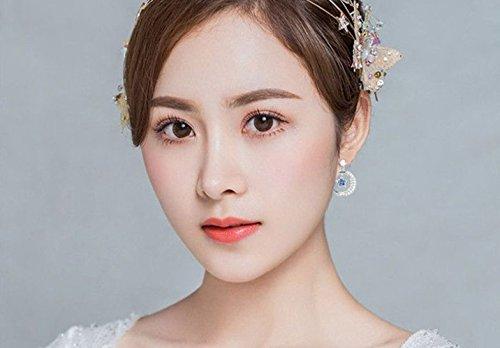 Hosaire Ohrringe Damen Ohrh/änger Niedlich Mond Form Ohrring 1 Paar
