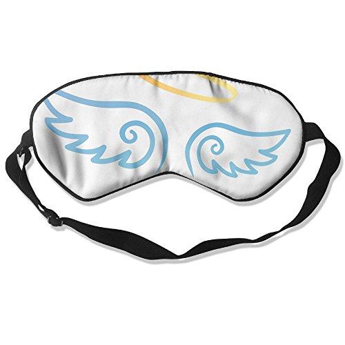 WUGOU Sleep Eye Mask Wing Lightweight Soft Blindfold Adjustable Head Strap Eyeshade Travel Eyepatch -