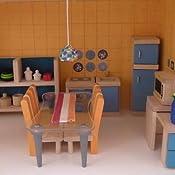 Amazon Com Plan Toy Doll House Kitchen Neo Style Toys