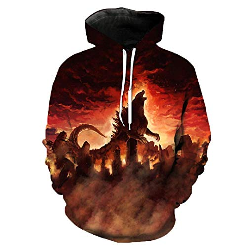 Fashion Hoody 3D Anime Godzilla City Wars Hooded Sweatshirts Cosplay Costume -
