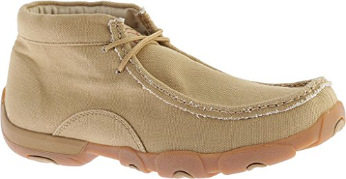 Twisted Khaki Moc Men's MDM0051 X Canvas Boots Driving YYBOp6