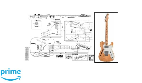 Plan de Fender Telecaster de guitarra eléctrica - escala completa impresión: Amazon.es: Instrumentos musicales