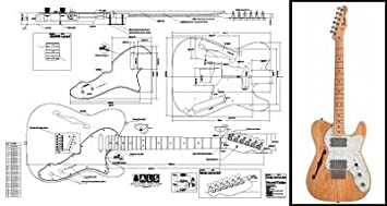 3e7d0cc917380 Plan de Fender Telecaster Thinline Guitare électrique – Full Échelle  d impression
