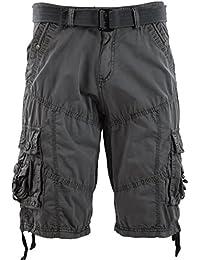 Mens Premium Cargo Shorts with Belt (8 Pockets 32-44 Size)