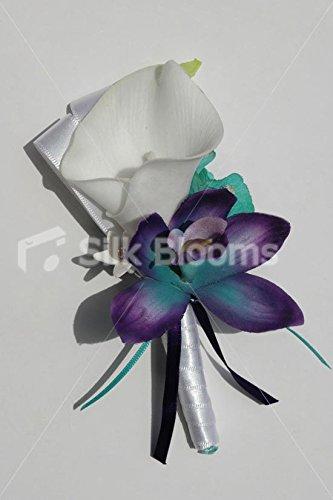 Galaxy Blue Orchids, White Calla Lily & Jade Hydrangea (Jade Orchid Flower)