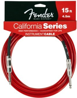Fender 4,5 m califorinia Cable para instrumento - Candy Apple Red: Amazon.es: Instrumentos musicales
