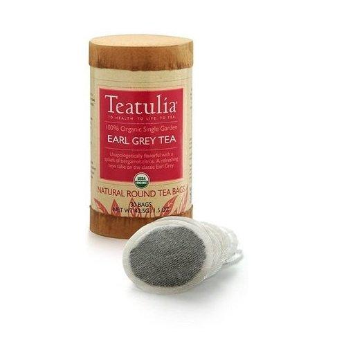 Teatulia Earl Grey Tea–Organic Tea 30ct eco-canister–�?0Sacchetti