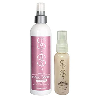 Simply Smooth Xtend Keratin Reparative Magic Potion Sodium Chloride Free, 8.5 Ounce & 2.0 Ounce Travel Combo