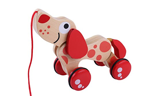 Wooden Pull Toy Puppy Dog Walking Dog Early Childhood Development for 1 Year Kids Baby Boy Girl Unique Quality Eco Non Toxic Beginner Walkers Pull Along Educational Tractors Toy Learning Walking (Bw Creative Wood)