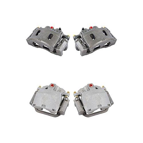 CK01229 FRONT + REAR [ 4 ] Premium Grade Semi-Loaded OE Caliper Assembly Set Kit