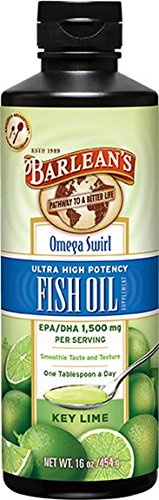 Barlean's Organic Oils Key Lime Ultra High Potency Fish Omega Swirl, 16 Ounce