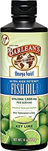 Barlean's Organic Oils Key Lime Ultra High Potency Fish Omega Swirl, 16 Ounce