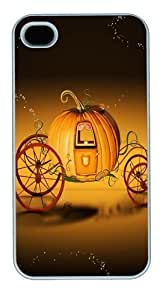 Halloween Pumpkin Car Custom For Ipod Touch 5 Case Cover Polycarbonate White