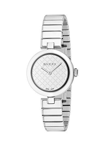 Gucci Women's Swiss Quartz Stainless Steel Dress Watch, Color:Silver-Toned (Model: YA141502)