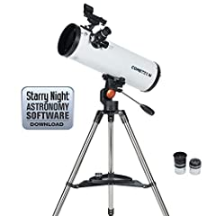 Even beginning stargazers can catch stunning views of the next comet with Celestron's Cometron 114AZ. Designed specifically for viewing comets, Cometron 114AZ offers a 114 mm parabolic mirror to capture the sharpest views of even dim comets o...