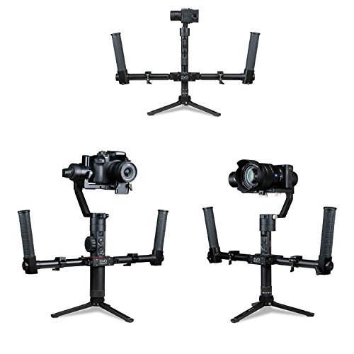 - EVO Gimbals Pro-Grip Dual Handle Kit - Works with Most Camera stabilizers Including EVO Rage Gen2, Rage3, Zhiyun Crane, Moza Air Plus More | Folding Design - 100% CNC Aluminum | 1 Year US Warranty