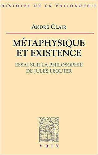 Lire un Métaphysique et existence pdf, epub ebook