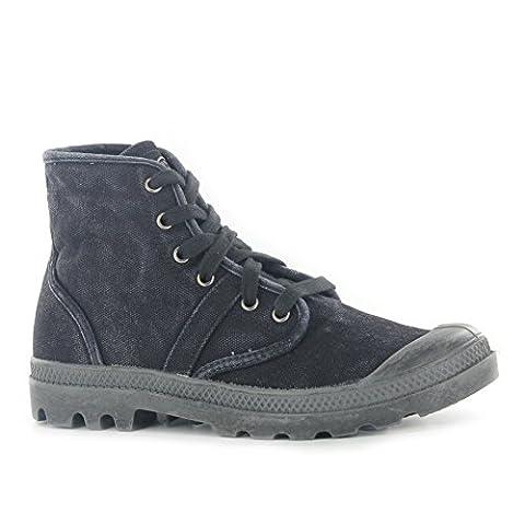 Mens Palladium Pallabrouse Leather Ankle Boot Lace-Up Black Medium 8 D, M US Men