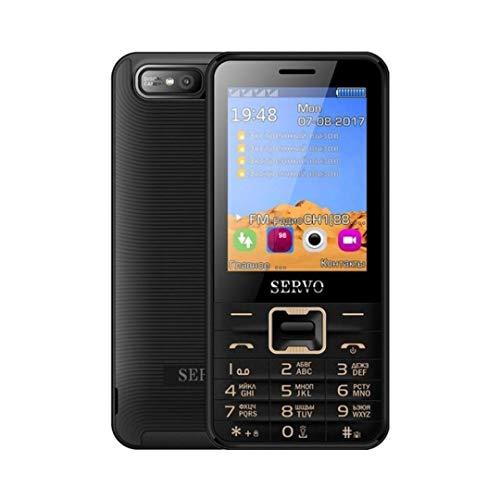 Band Cellular Quad - Servo 8100 Quad Sim Cell Phone Quad Band 2.8 inch 4 SIM Cards 4 Standby Phone Unlocked (Black)