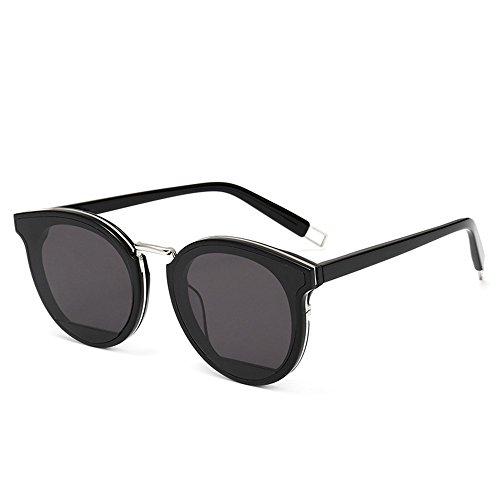 metálicas de Gafas personalidad sol gafas sol sol de placa de Gafas de 6 con montura sol Shop redonda Dos gafas de de IxqX0Wp