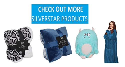 SILVER ONE Sherpa Plush Stuffed Animal and Throw Blanket 2 Peice Gift Set for Kids/Children | 40'' x 50'' Soft Plush Throw | Get Well Gift, Grey Dog by SILVER ONE (Image #4)