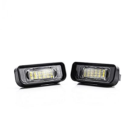 2x Mercedes E-Class W211 Bright Xenon White Superlux LED Number Plate Bulbs