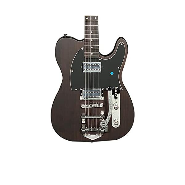 ZUWEI Electric Guitar 6 Strings Bigsby Bridge Basswood Body with Rosewood Top Veneer New Arrial Limited Edition 41eDmLDJSoL