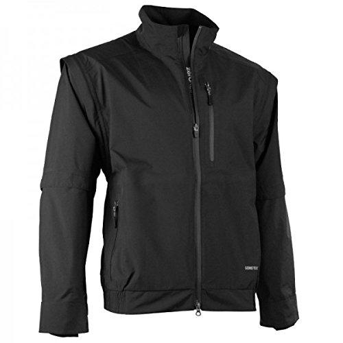 Zero Restriction Men's Featherweight Traveler Jacket Removable Sleeve Rain Jacket, Black, X-Large (Gore Traveler Tex)