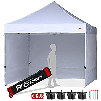 ABCCANOPY Canopy Tent 10x10 Pop Up Canopy Tent Commercial Instant Shade Tent with Upgrade Roller Bag