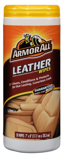 Armor All 10881 Leather Care Wipe Plastic Canister - 20 Sheets, (Pack of 6)