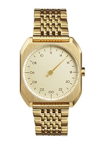 slow Mo 04 - Swiss Made one-hand 24 hour watch - Gold steel