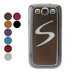 LED Light S Pattern Hard Case for Samsung Galaxy S3 I9300 (Assorted Colors) , Brown