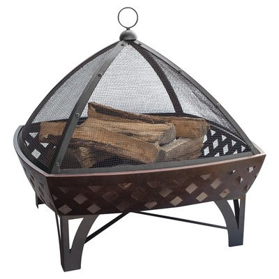 Endless Summer, WAD1401SP, Outdoor Fire Bowl with Lattice, Oil Rubbed Bronze