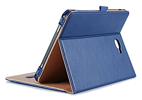 ProCase Samsung Galaxy Tab A 10.1 Case - Stand Folio Case Cover for Galaxy Tab A 10.1 Inch Tablet SM-T580 T585, with Multiple Viewing Angles, Document Card Pocket - (Cover De Samsung Tab)