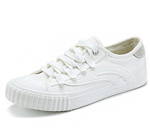 KUKI Freizeitschuhe weiße Schuhe Leinwand Schuhe Schuhe white