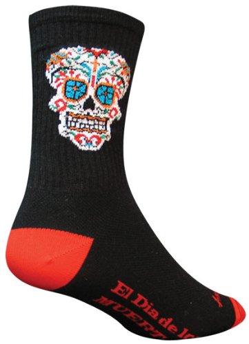 - SockGuy El Dia Crew 6IN Cycling Sock, Black, Small