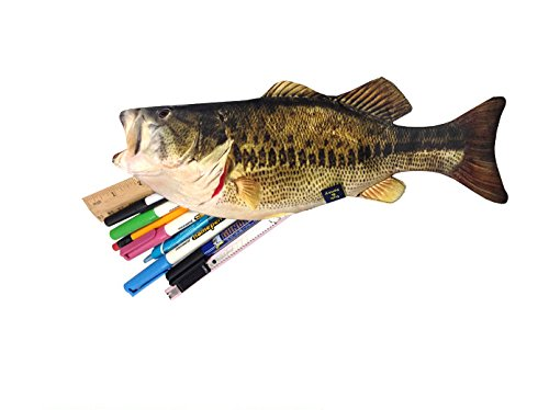 Bass zipper pouch weird fish pen pencil case for school for Fish pencil case