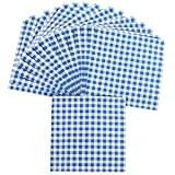 """Oriental Trading Company -Blue Gingham Luncheon Napkins - Tableware, 13""""W"""