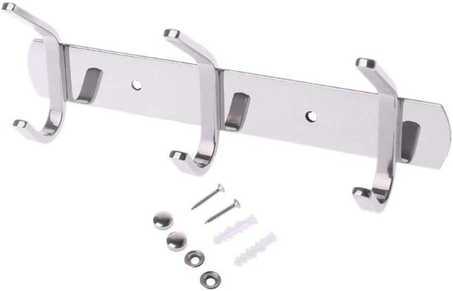 Yushen Stainless Steel Hook Wall-mounted Drying Rack Towel Bathrobe Rack Kitchen Bathroom 3-8hook-A/_3