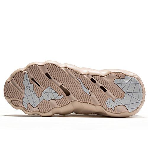 Onemix Mens Womens Sneakers Leggero Traspirante Outdoor Scarpe Da Passeggio Sneakers Sock-like Oro