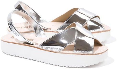 Silver Crossover Menorcan Sandals EU