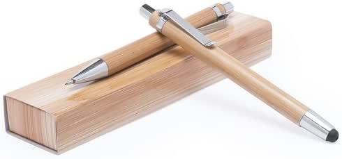 Momparler1870 Pack 20 juegos de bolígrafo y portaminas madera bambú: Amazon.es: Hogar