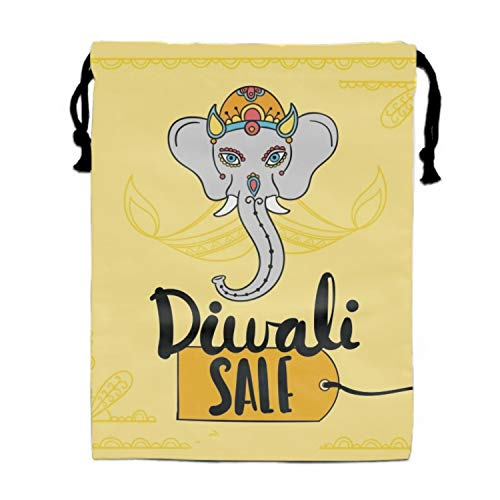 Treat Diwali - Diwali Sale Background With Elephant Design Party Favors Bags,Treat Goodie Bags for Kids