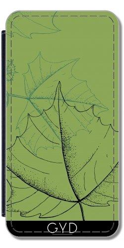 Funda Carcasa Cubierta de PU Cuero para Iphone X - Hojas by hera56