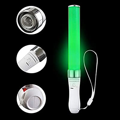 Uonlytech LED Glow Sticks LED 15 Colors Sticks Glow Batons Glowing Flash Stick Party Decor for Evening Party Poi Concert Outdoor (White): Toys & Games