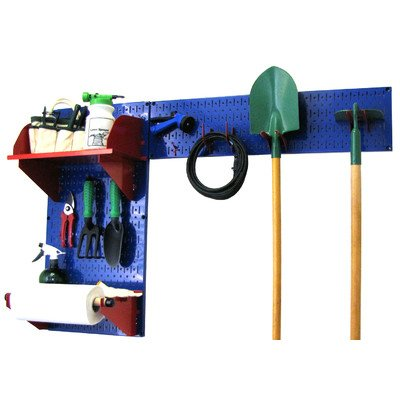 UPC 872984003861, Wall Control 30-GRD-200 BUR Pegboard Garden Supplies Storage and Organization Garden Tool Organizer Kit with Blue Pegboard and Red Accessories