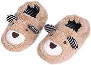 Csfry Toddler Boys' Slippers Cartoon Warm House S