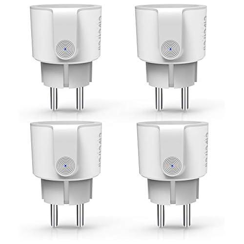 chollos oferta descuentos barato Enchufe Inteligente Wifi Enchufe Conéctese Alexa Google Home Smart Plug 16A Comando de Voz Programa de Tie