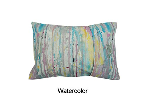MyPillow Roll N Go Travel Pillow Rolls Into It's Own Pillow Case, Included (Watercolor)