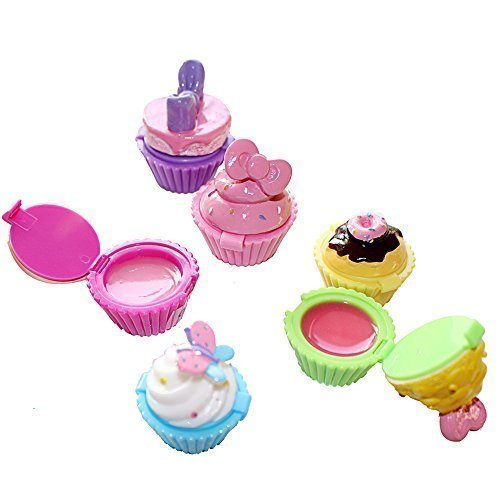 Jalousie Novelty Cupcake Lip Gloss 6 Piece Girls Birthday Party
